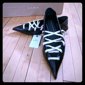 Zara leather mules - Brand new!!!